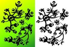 Ornamento abstracto de la flor Imagenes de archivo