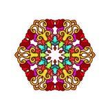 Ornamento abstracto del círculo stock de ilustración