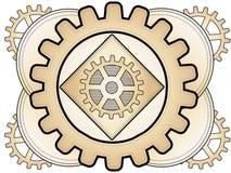 Ornamento abstracto del engranaje de Steampunk Imágenes de archivo libres de regalías