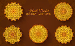 Ornamento abstracto dibujado mano del fondo Foto de archivo libre de regalías