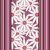 Ornamento abstracto inconsútil del modelo con los elementos y las líneas florales Fotografía de archivo libre de regalías