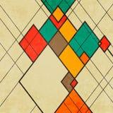 Ornamento abstracto retro del vector del fondo del Rhombus ilustración del vector