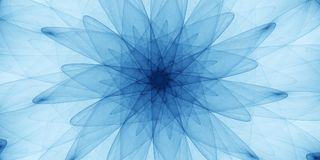 Ornamento abstrato azul Imagem de Stock