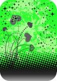 Ornamento abstrato com corações Imagens de Stock Royalty Free