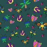Ornamento abstrato com flores Imagens de Stock