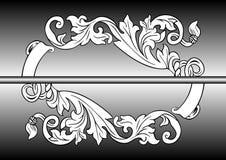 Ornamento abstrato com fundo Imagem de Stock