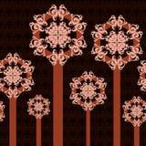 Ornamento abstrato das árvores Imagens de Stock Royalty Free
