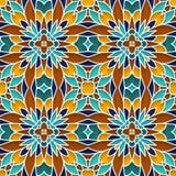 Ornamento abstrato do mosaico, teste padrão sem emenda ilustração royalty free