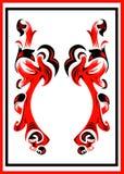 Ornamento abstrato em cores pretas e vermelhas Imagens de Stock