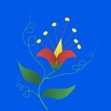 Ornamento abstrato floral fotografia de stock