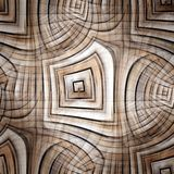 Ornamento abstrato, fractal renedered ilustração royalty free
