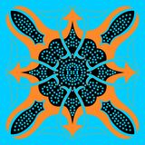 Ornamento abstrato oriental azul brilhante Foto de Stock Royalty Free