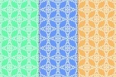 Ornamento abstratos Testes padrões sem emenda coloridos ilustração stock