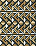 Ornamento africano inconsútil con los granos de café Fotografía de archivo