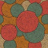 Ornamento africano tradicional con remolinos Golpeteo inconsútil del vector