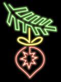 Ornamento al neon di natale Fotografia Stock Libera da Diritti