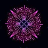 Ornamento al neon rosa sulla a royalty illustrazione gratis
