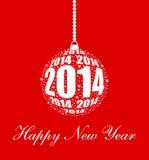 Ornamento alla moda del nuovo anno 2014 Immagini Stock