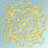 Ornamento amarelo Fotografia de Stock