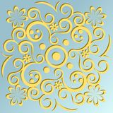 Ornamento amarillo Fotografía de archivo