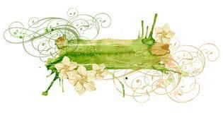 Ornamento & flores do vintage Imagem de Stock
