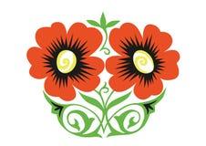 Ornamento anaranjado de las flores Fotos de archivo libres de regalías
