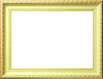 Ornamento antigo do ouro dos whis do frame fotografia de stock