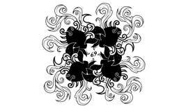 Ornamento antigo do zodíaco do câncer ilustração stock