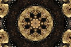 ornamento antiguo abstracto en marrón, mandala, caleidoscopio Foto de archivo libre de regalías