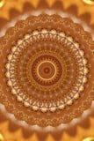 ornamento antiguo abstracto en marrón, mandala, caleidoscopio Imagenes de archivo