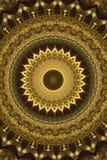 ornamento antiguo abstracto en marrón, mandala, caleidoscopio Foto de archivo