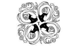 Ornamento antiguo del zodiaco del aries libre illustration