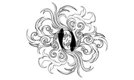 Ornamento antiguo del zodiaco de Piscis libre illustration