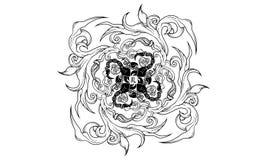 Ornamento antiguo del zodiaco del escorpión ilustración del vector
