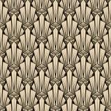 Ornamento antiguo inconsútil del modelo Vagos elegantes del art déco geométrico stock de ilustración