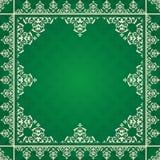 Ornamento arabo su fondo verde Royalty Illustrazione gratis