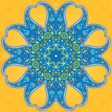 Ornamento arredondado de paisley Fotografia de Stock Royalty Free