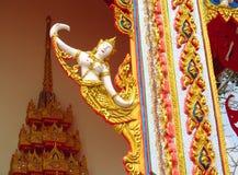 Ornamento asiático del mosaico en la columna del templo Imágenes de archivo libres de regalías