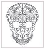 Ornamento astratto del merletto del cranio. Immagini Stock Libere da Diritti
