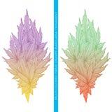 Ornamento astratto della cannabis multicolore Immagini Stock Libere da Diritti