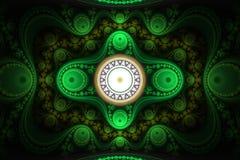 Ornamento astratto di frattalo Immagini Stock