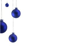 Ornamento azuis do Natal foto de stock royalty free