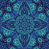 Ornamento azul de la elegancia stock de ilustración