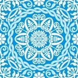 Ornamento azul del invierno Imágenes de archivo libres de regalías