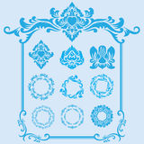 Ornamento azul del marco Fotos de archivo libres de regalías