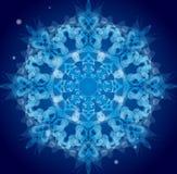 Ornamento azul del vector Fotografía de archivo libre de regalías