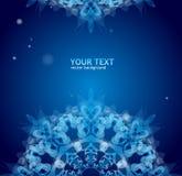 Ornamento azul del vector para el texto Imagen de archivo libre de regalías