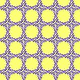 Ornamento azul no fundo amarelo ilustração stock