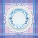 Ornamento azul tableware ilustração royalty free
