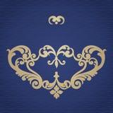 Ornamento barroco del vector en estilo victoriano Fotografía de archivo libre de regalías